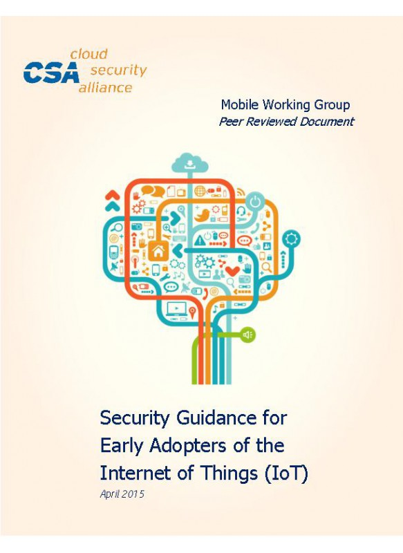 Security Guidance for Early Adopters of the Internet of Things (IoT)